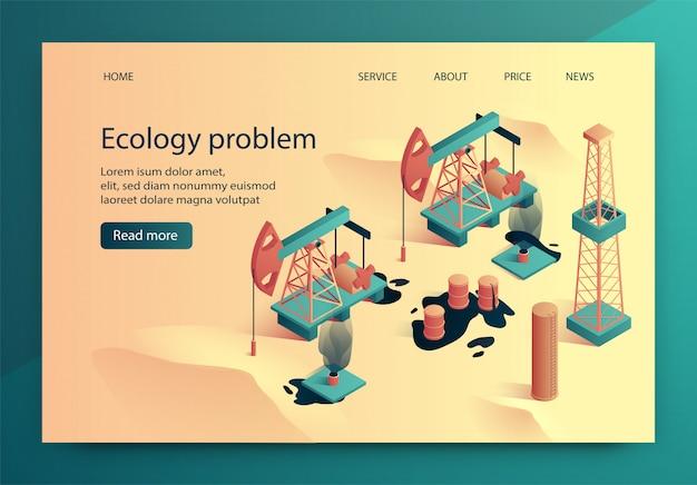 L'illustrazione di vettore è problema di ecologia scritto. Vettore Premium
