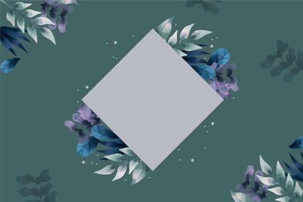 L'inverno fiorisce il fondo con il distintivo vuoto Vettore gratuito