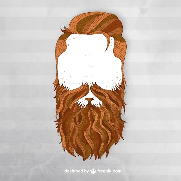 L'uomo con la barba Vettore gratuito