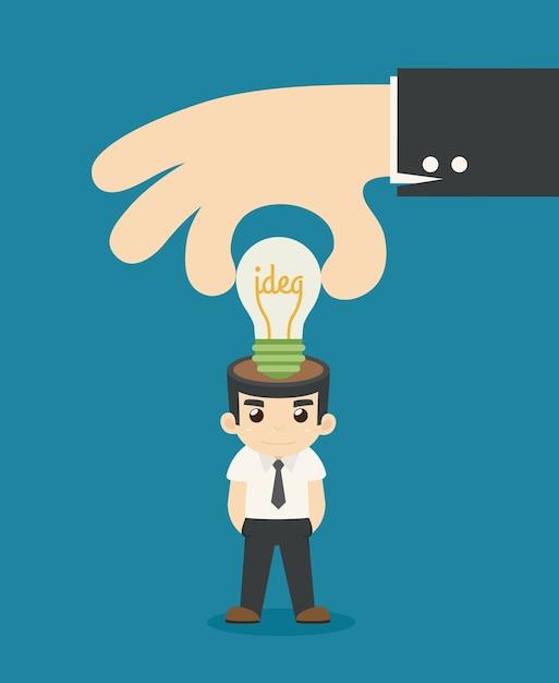 L'uomo d'affari fa l'idea Vettore Premium