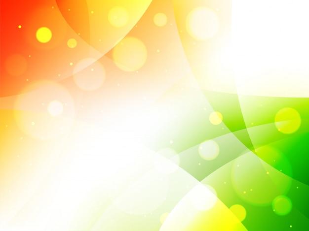 La bandiera indiana astratta colora il fondo decorato cerchio. Vettore Premium