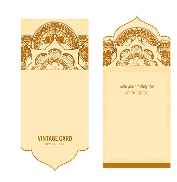 La carta del modello con fondo astratto, progettazione di vettore Vettore Premium
