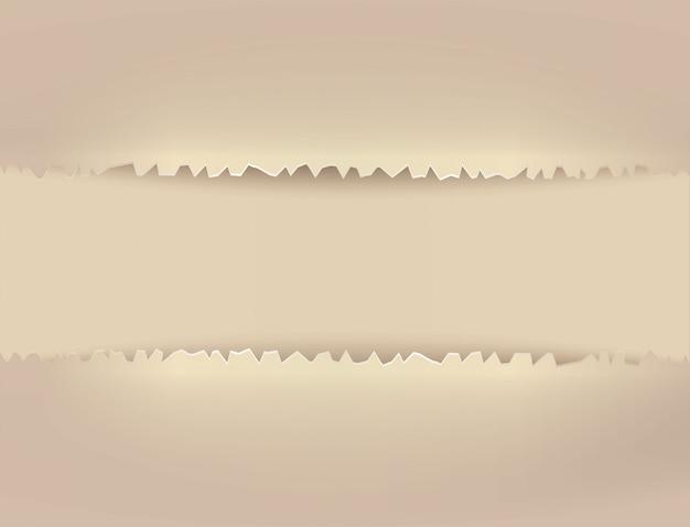 La carta strappata è una cornice Vettore Premium
