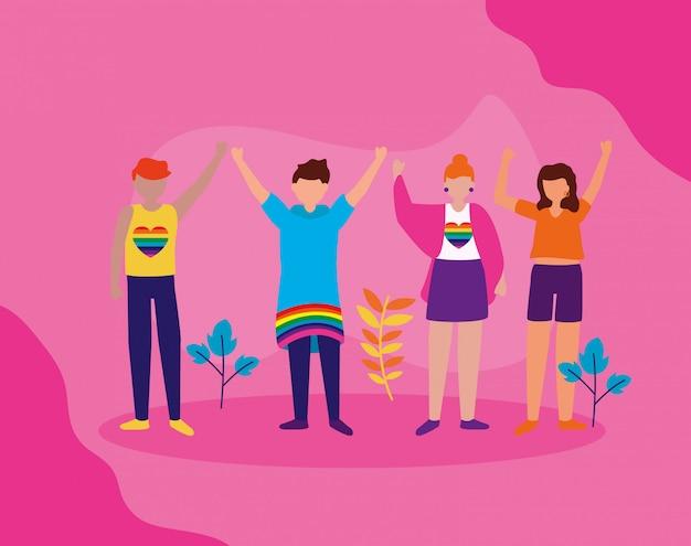 La comunità queer di progettazione lgbtq Vettore gratuito