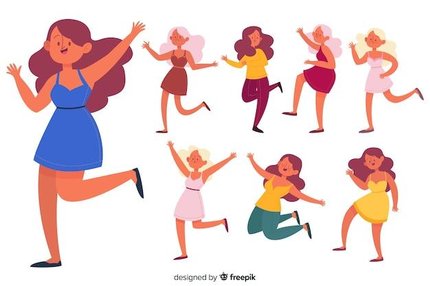 La gente che balla insieme Vettore gratuito