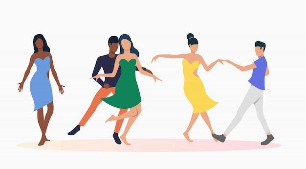 La gente che balla la salsa Vettore gratuito