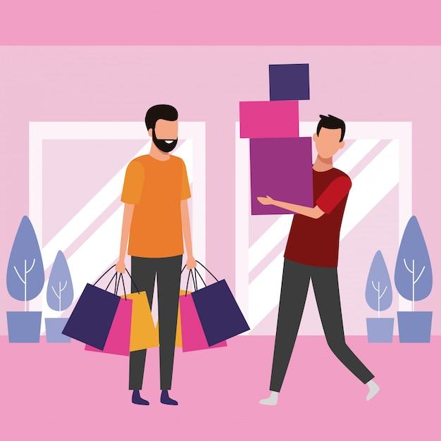 La gente lo shopping al centro commerciale Vettore Premium