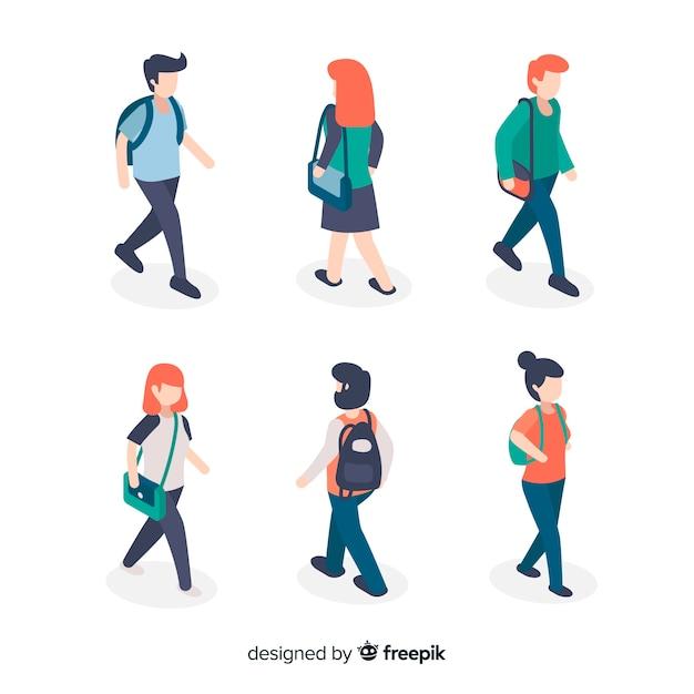 La gente va all'università Vettore gratuito