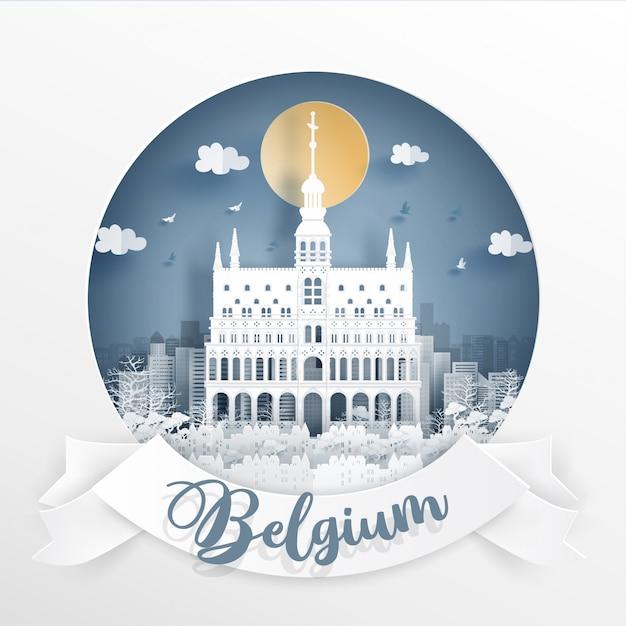 La grand place, bruxelles. belgio Vettore Premium