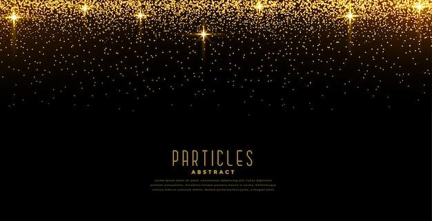 La luce dorata scintilla priorità bassa di burst della stella Vettore gratuito