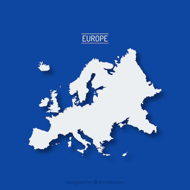 La mappa di europa Vettore gratuito