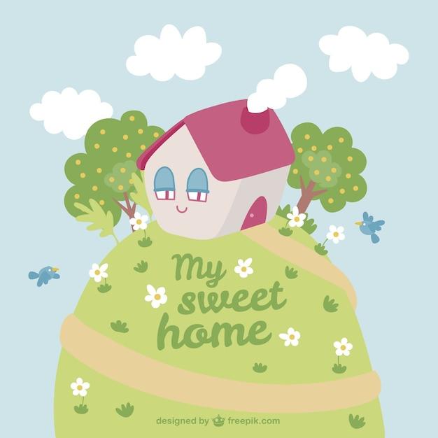 La mia casa dolce cartone animato scaricare vettori gratis