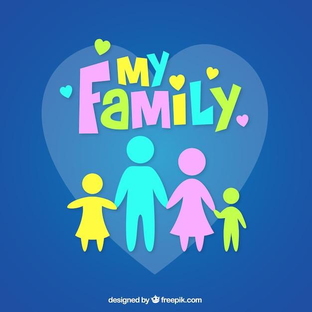 La mia famiglia Vettore gratuito