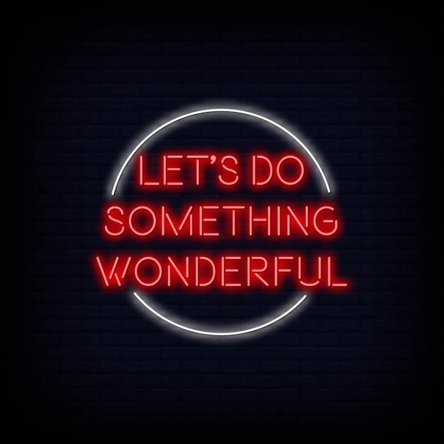 La motivazione moderna di citazione permette di fare qualcosa di meraviglioso al testo dell'insegna al neon Vettore Premium