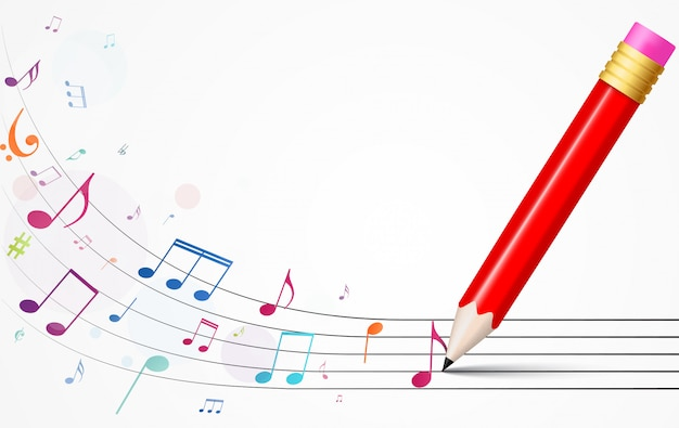 La musica variopinta nota la priorità bassa Vettore Premium