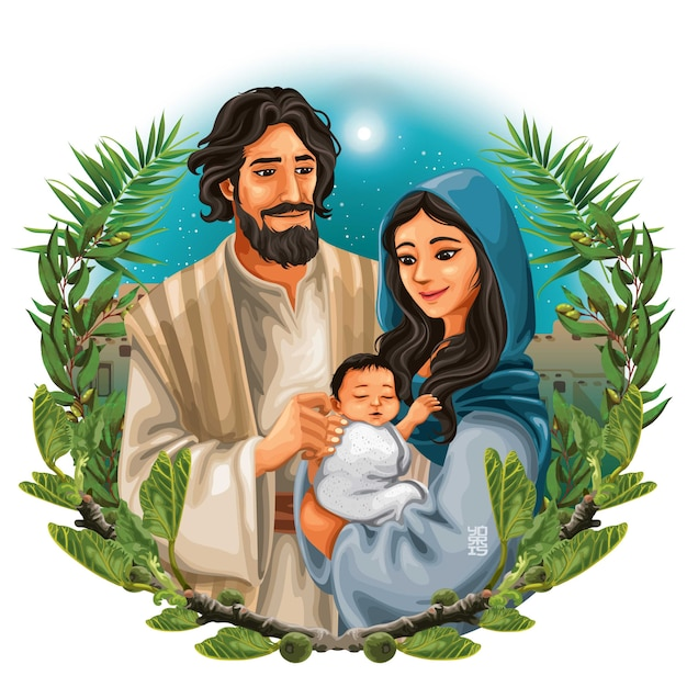 La sacra famiglia Vettore Premium