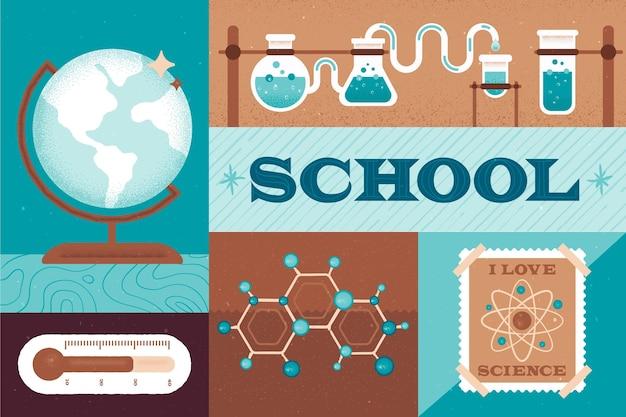 La scienza torna al concetto di scuola Vettore gratuito