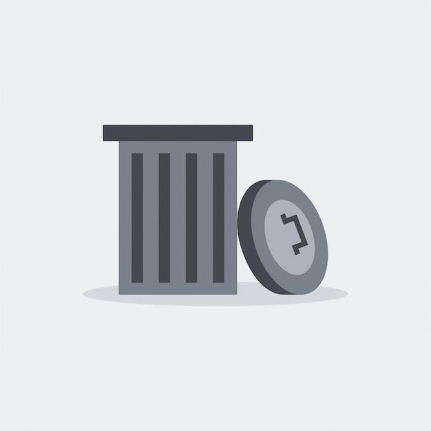 La spazzatura moderna ricicla il vettore Vettore Premium