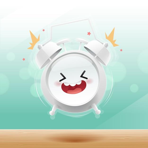 La sveglia è felice al mattino sul bokeh Vettore Premium