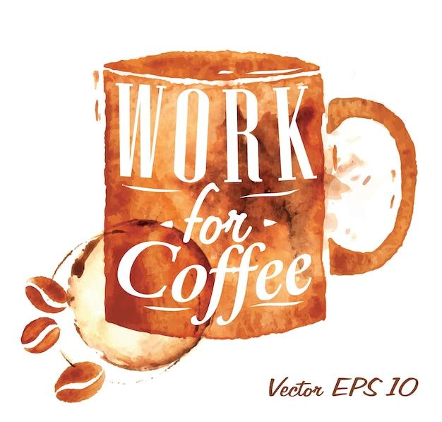 La tazza di caffè funziona per il caffè Vettore Premium