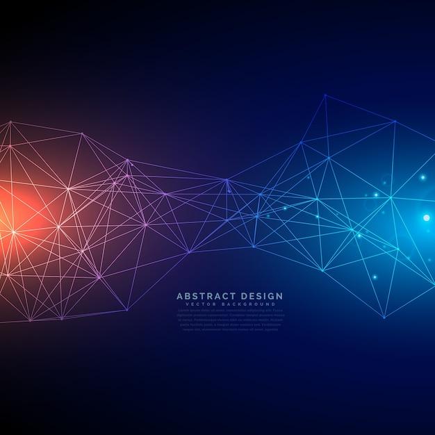 La tecnologia digitale sfondo con linee maglia Vettore gratuito