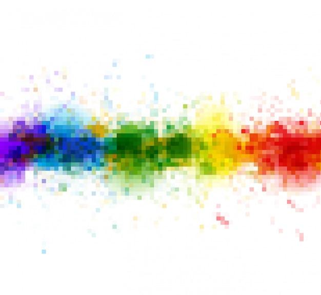 La vernice luminosa dell'acquerello spruzza la priorità bassa Vettore Premium