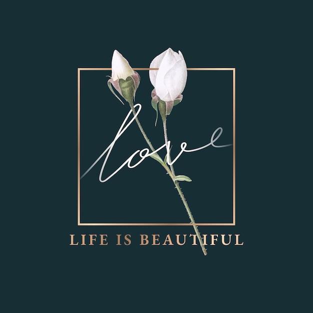 La vita floreale è un bellissimo design di carte Vettore gratuito