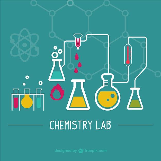 Laboratorio scientifico illustrazione Vettore gratuito