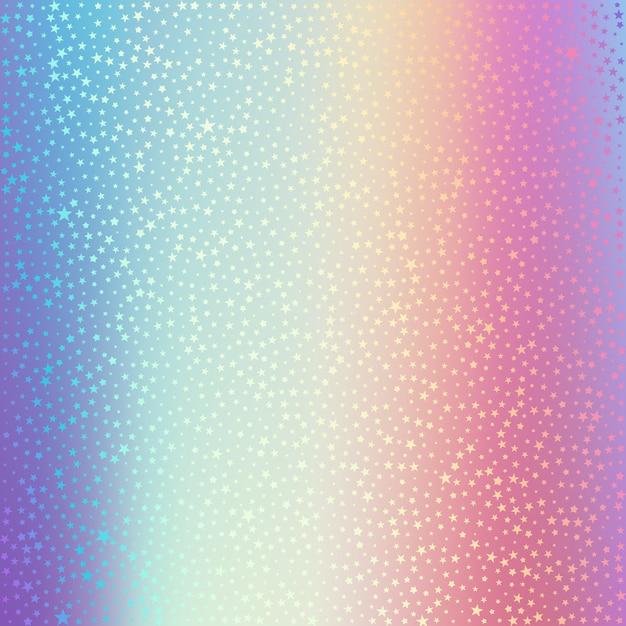Lamina olografica sfondo vettoriale ologramma con trama punteggiata. fondo con l'illustrazione della stella di forma della stagnola Vettore Premium