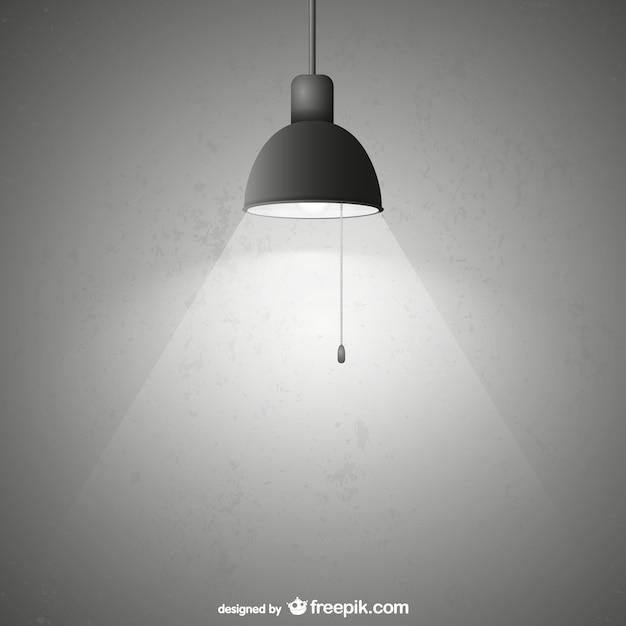 Lampada con texture grunge Vettore gratuito