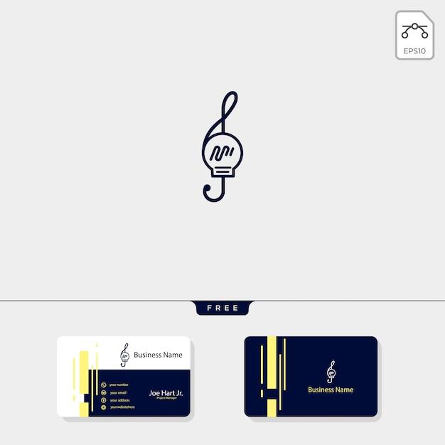 Lampada musicale Vettore Premium