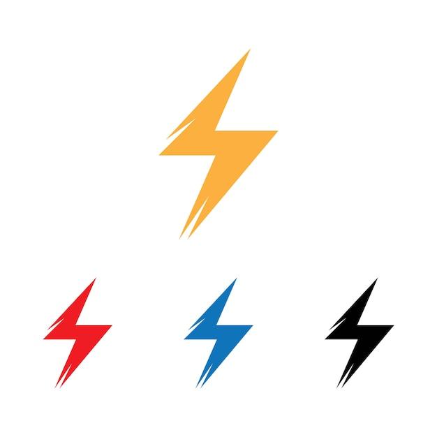 Lampo, elemento di disegno vettoriale di energia elettrica Vettore Premium