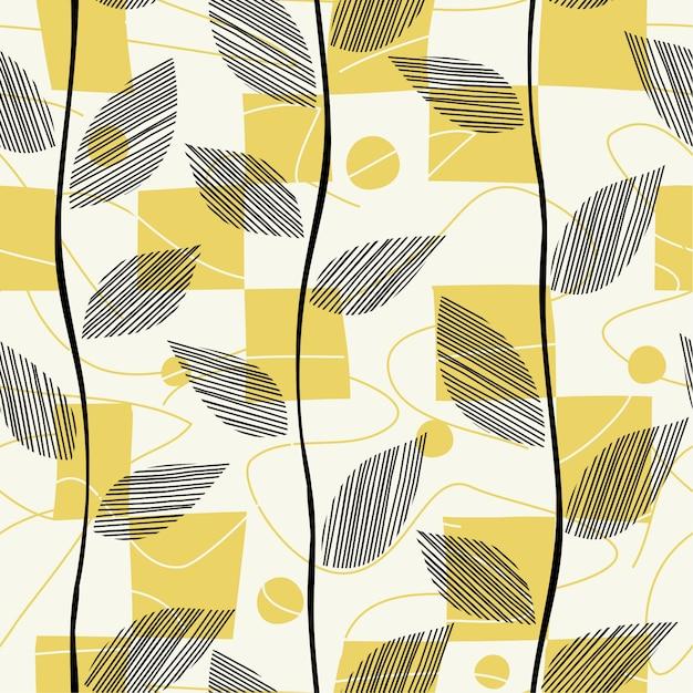 Lascia seamless pattern diffuso con quadrati. Vettore Premium