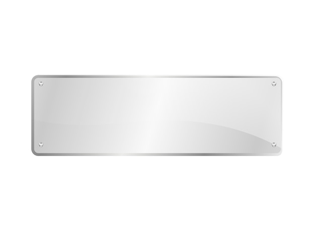 Lastra di vetro rettangolare isolata Vettore Premium