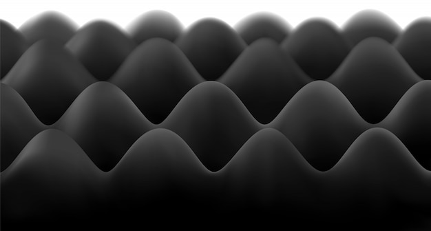 Lastra in schiuma nera insonorizzata per lo studio. Vettore Premium