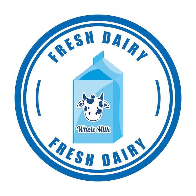 Latte design su sfondo bianco Vettore Premium