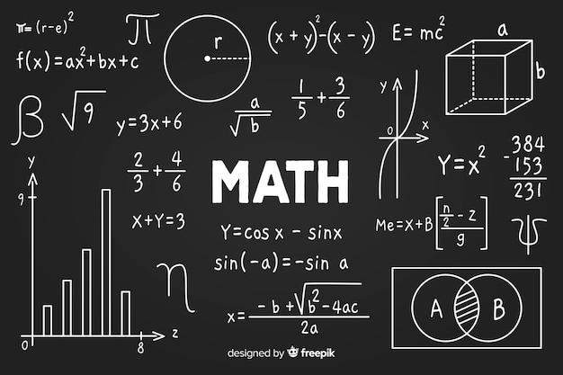 Lavagna matematica Vettore gratuito