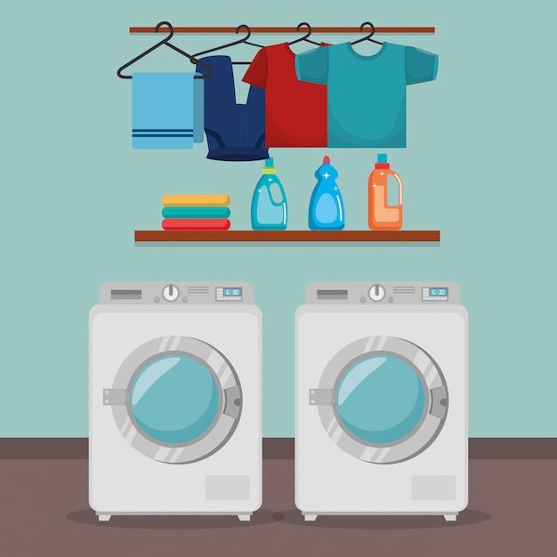 Lavatrice con servizio di lavanderia Vettore gratuito