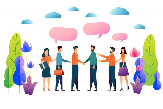 Lavoro di squadra e collaborazione Vettore Premium