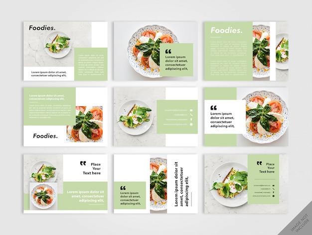 Layout del libro vegan verde Vettore Premium