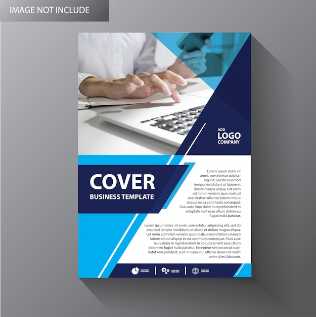 Layout del modello di brochure Vettore Premium