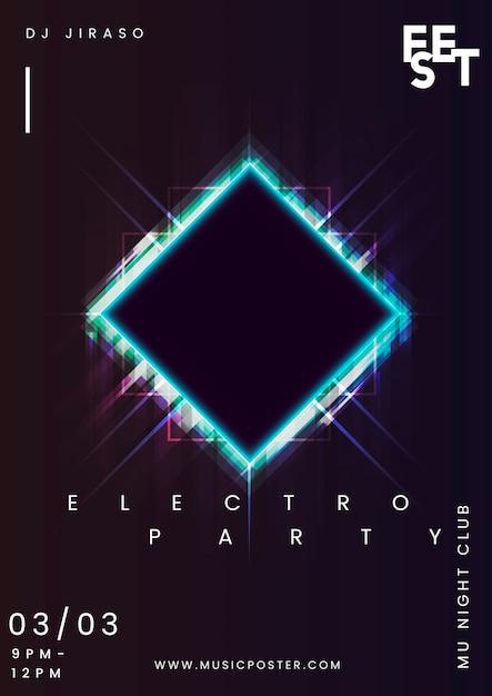 Layout del poster dell'evento Vettore gratuito