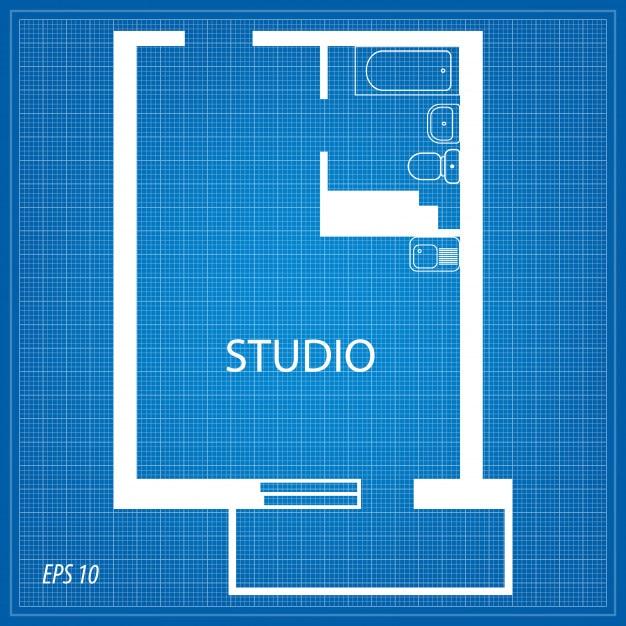 Layout dell'appartamento. studio. Vettore Premium