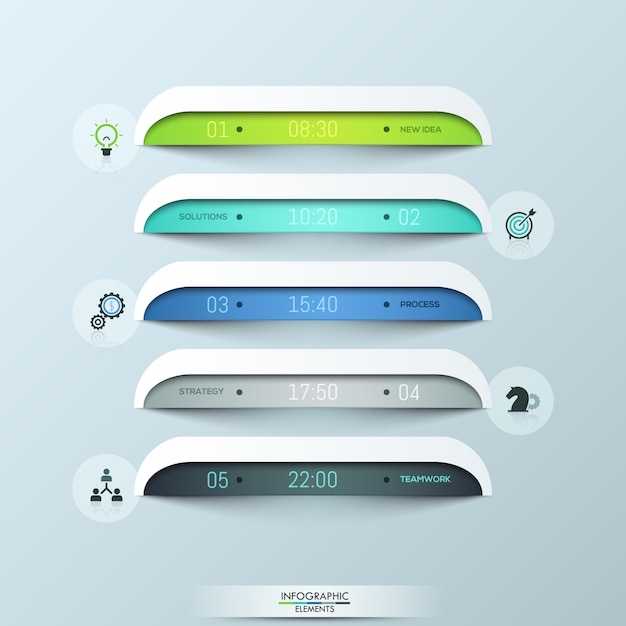 Layout design moderno infografica Vettore Premium