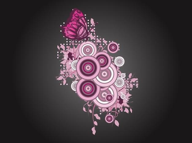 Layout di rosa con farfalle scaricare vettori gratis for Costruttore di layout gratuito