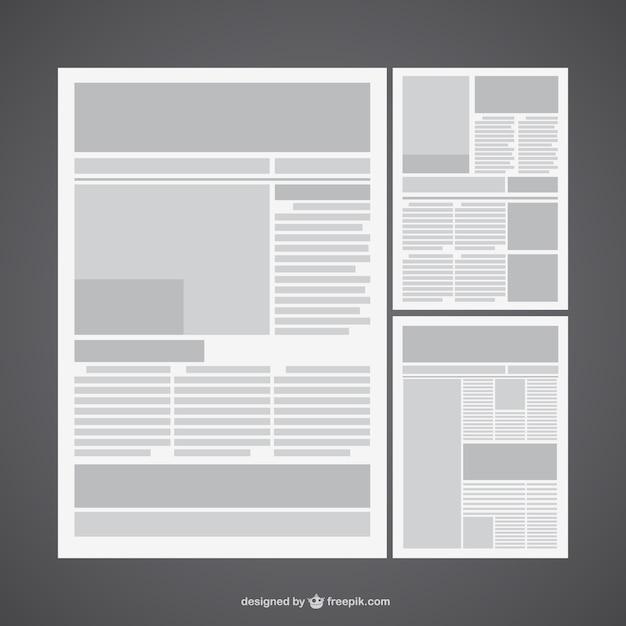 Layout giornale vettore scaricare vettori gratis for Costruttore di layout gratuito