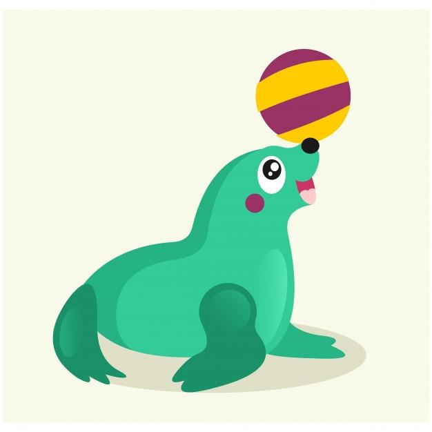 Le attrazioni di un personaggio dei cartoni animati di foca