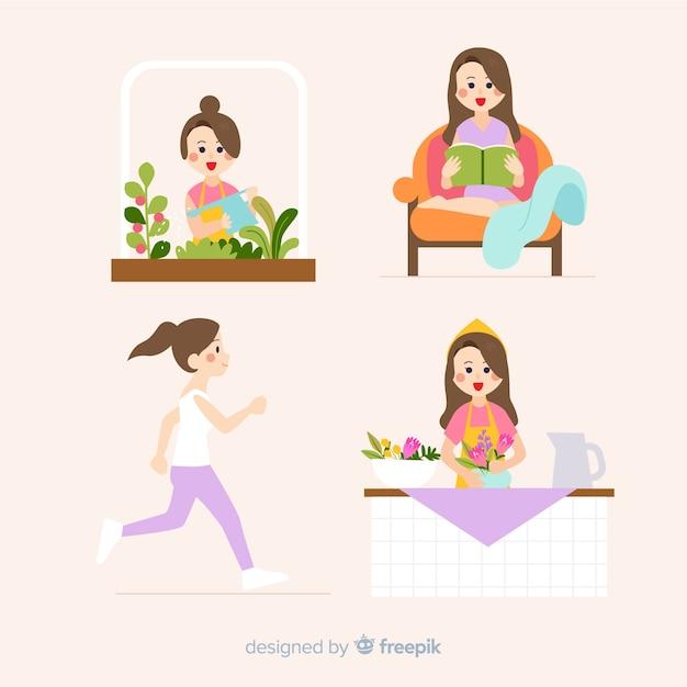 Le donne si godono il loro tempo libero Vettore gratuito