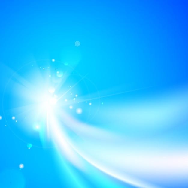 Le forme astratte turbinano e fondo blu di vettore Vettore gratuito