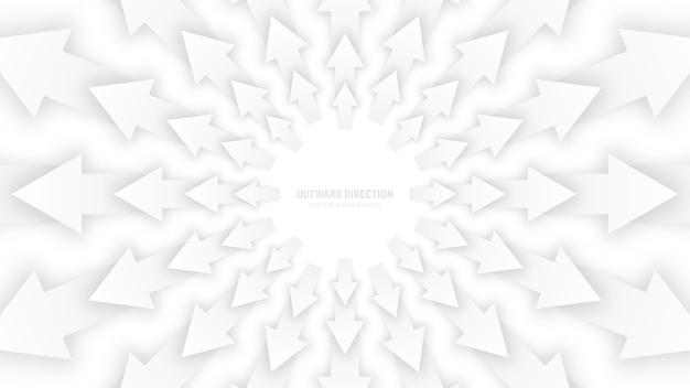 Le frecce bianche di vettore 3d sottraggono l'illustrazione concettuale Vettore Premium